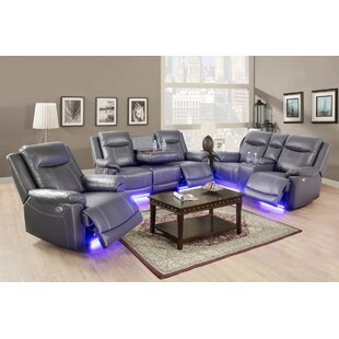 3 Piece Faux Leather Reclining Living Room Set (Set of 3) by Orren Ellis