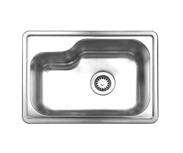 Noah 22.5 L x 15.88 W Single Bowl Drop In Kitchen Sink by Whitehaus Collection