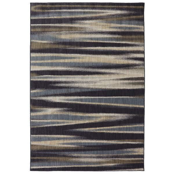 Dryden Ashen Striped Tupper Lake Rug by Mohawk Home