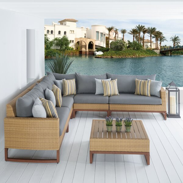 Addison 6 Piece Sunbrella Sectional Set with Cushions by Bayou Breeze