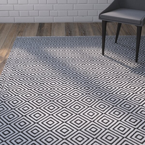 Criswell Black Area Rug by Wrought Studio