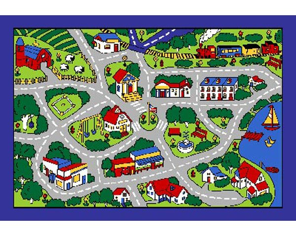 Street Map Area Rug by Sintechno