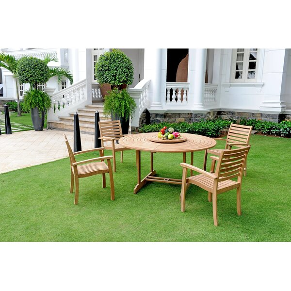 Cooley 5 Piece Teak Dining Set by Darby Home Co