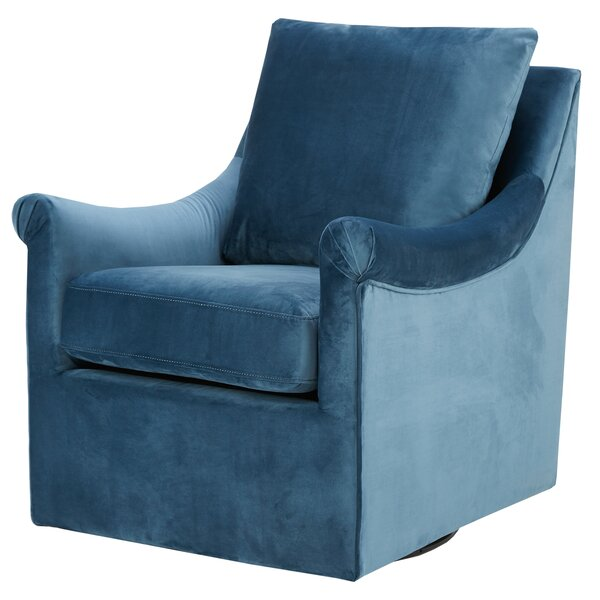 Lundell Swivel Armchair by Alcott Hill