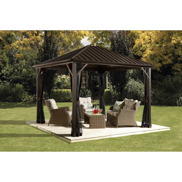 Dakota 12 Ft. W x 10 Ft. D Aluminum Patio Gazebo by Sojag