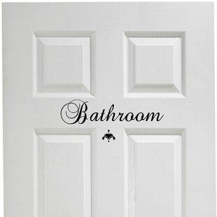 Charmant Bathroom Door Decal