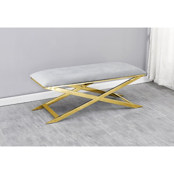 Freeland Upholstered Bench by Mercer41 Mercer41