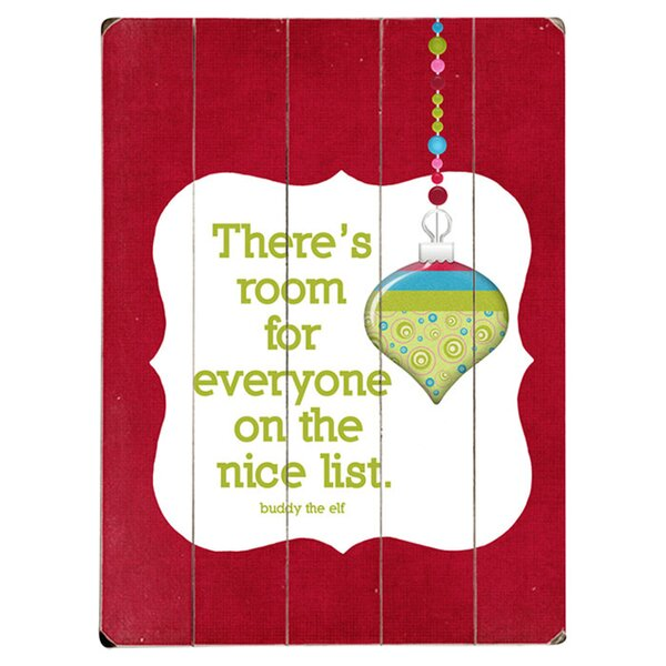 The Nice List Graphic Art Print Multi-Piece Image on Wood by Artehouse LLC