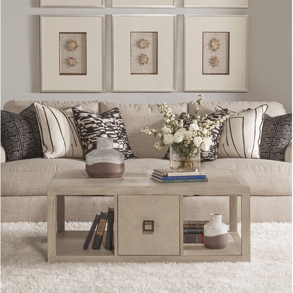 Cohesion Program Solid Wood Floor Shelf Coffee Table With Storage By Artistica Home