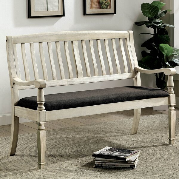 Elena Loveseat Upholstered Bench by One Allium Way