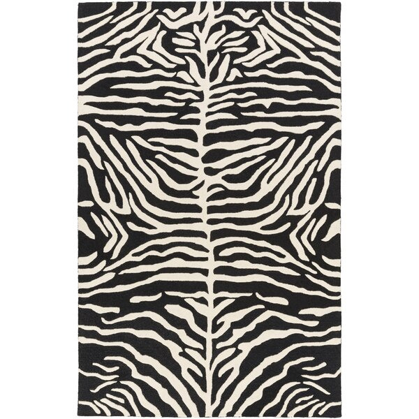 Langner Handmade Black/Ivory Area Rug by House of Hampton