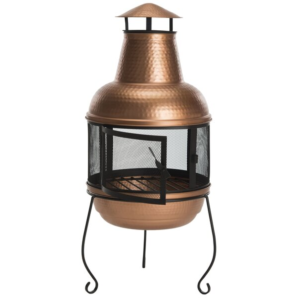 Lima Hammered Iron Chiminea by Safavieh