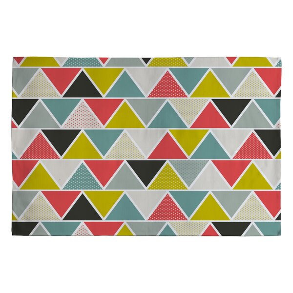 Heather Dutton Triangulum Black/Gray Geometric Area Rug by Deny Designs