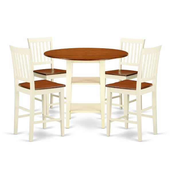 Tyshawn Counter Height 5 Piece Pub Table Set by Charlton Home