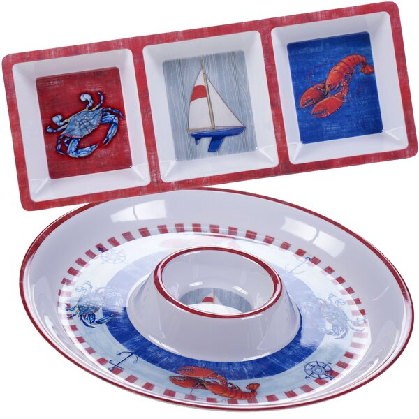 Maritime Melamine 2 Piece Serving Dish Set by Certified International
