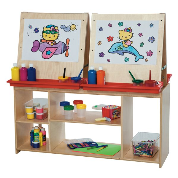 Contender Marker Tray Flipchart Easel by Wood Designs