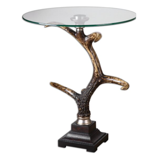 Everaldo Stag Horn Accent Table by Bloomsbury Market Bloomsbury Market