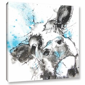 Cow 47 Painting Print on Wrapped Canvas by Latitude Run