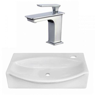 Compare Ceramic 16.25 Bathroom Sink with Faucet ByRoyal Purple Bath Kitchen