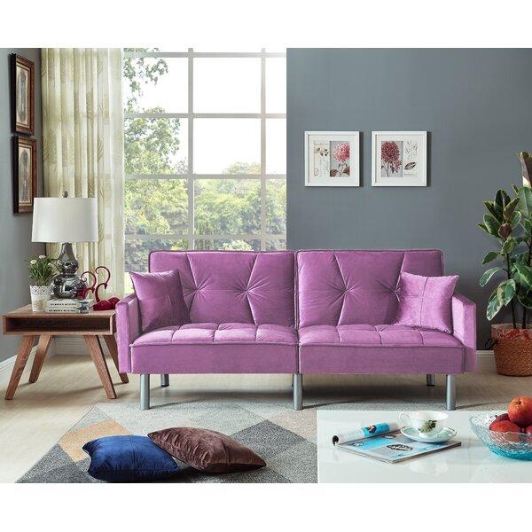 Hemphill Velvet Sleeper Sofa By Mercer41