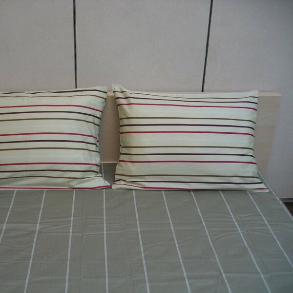 Stripe 200 Thread Count Cotton Fitted Sheet Set by DaDa Bedding