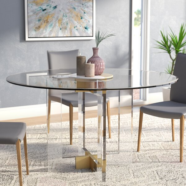 Gosta Round Glass Dining Table by Willa Arlo Interiors