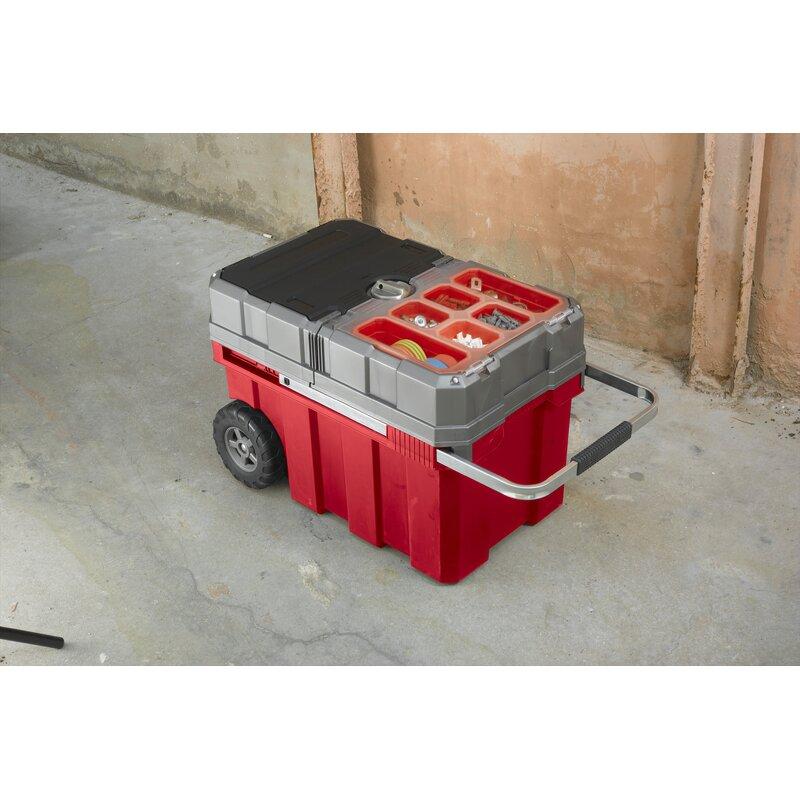 Keter New Masterloader Plastic Portable Rolling Organizer