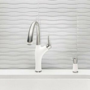 White Kitchen Faucet white kitchen faucets you'll love | wayfair
