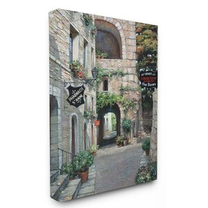 Italian Country Village with Archway Painting Print on Canvas by Stupell Industries