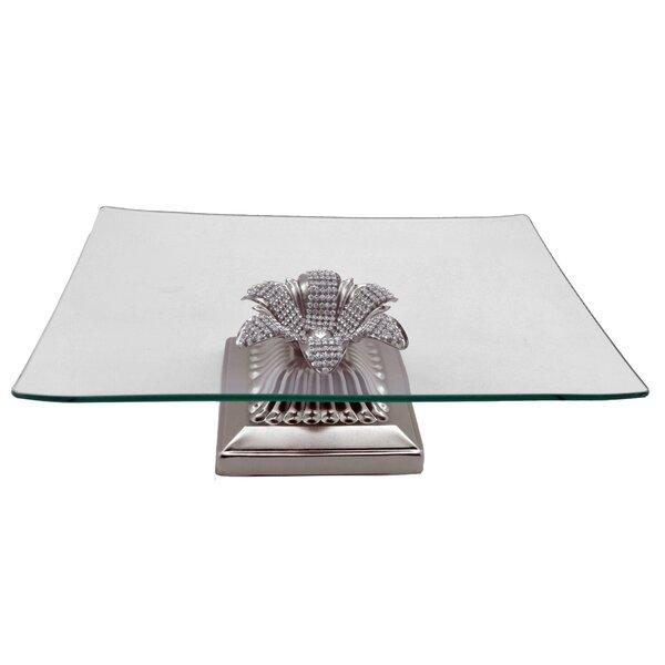 Square Base Serving Platter by Three Star Im/Ex Inc.