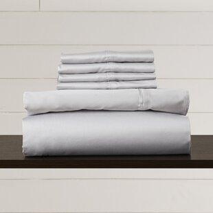 Clearance Hiram 600 Thread Count 6-Piece Egyptian Quality Cotton Sateen Deep Pocket Sheet Set ByAugust Grove