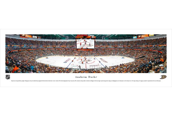 NHL Anaheim Ducks - Center Ice by James Blakeway Photographic Print by Blakeway Worldwide Panoramas, Inc