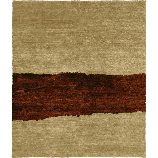 One-of-a-Kind Bacall Hand-Knotted Traditional Style Beige 8' x 10' Wool Area Rug