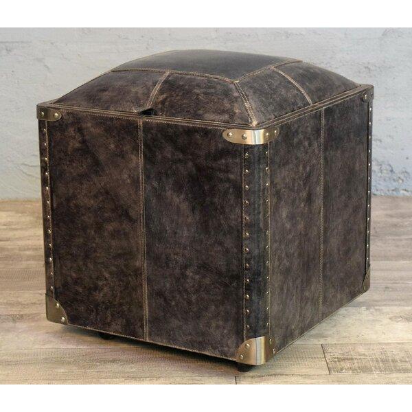 Aubrianne Genuine Leather Storage Accent Stool