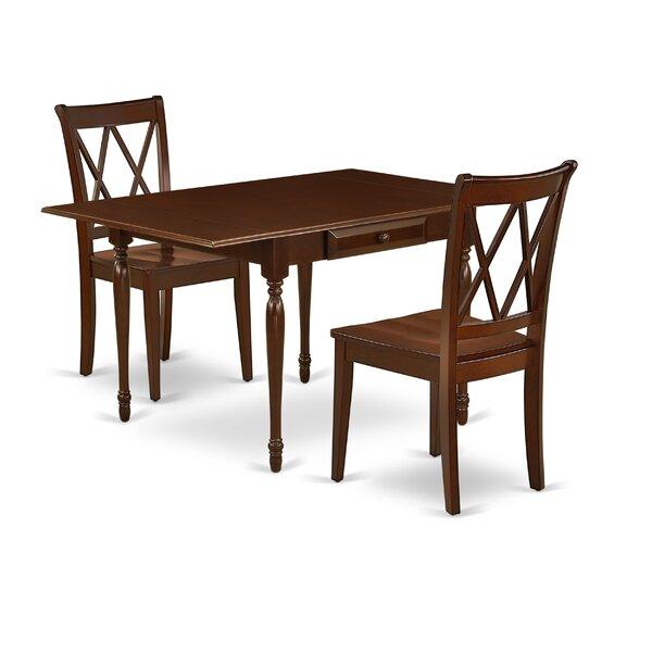 Cummington Drop Leaf Solid Wood Dining Set by Ophelia & Co. Ophelia & Co.