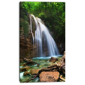 'Djur Djur Waterfall' Photographic Print on Wrapped Canvas by Design Art