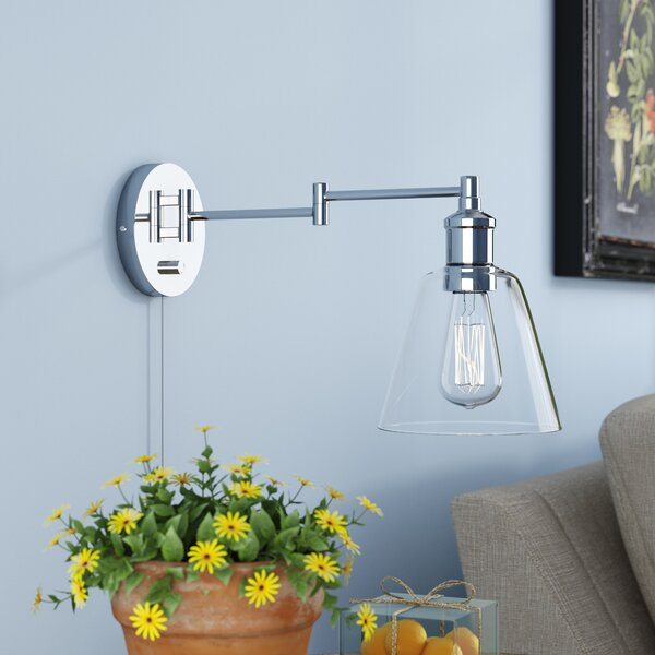 Southbury 1-Light Swing Arm Lamp by Laurel Foundry
