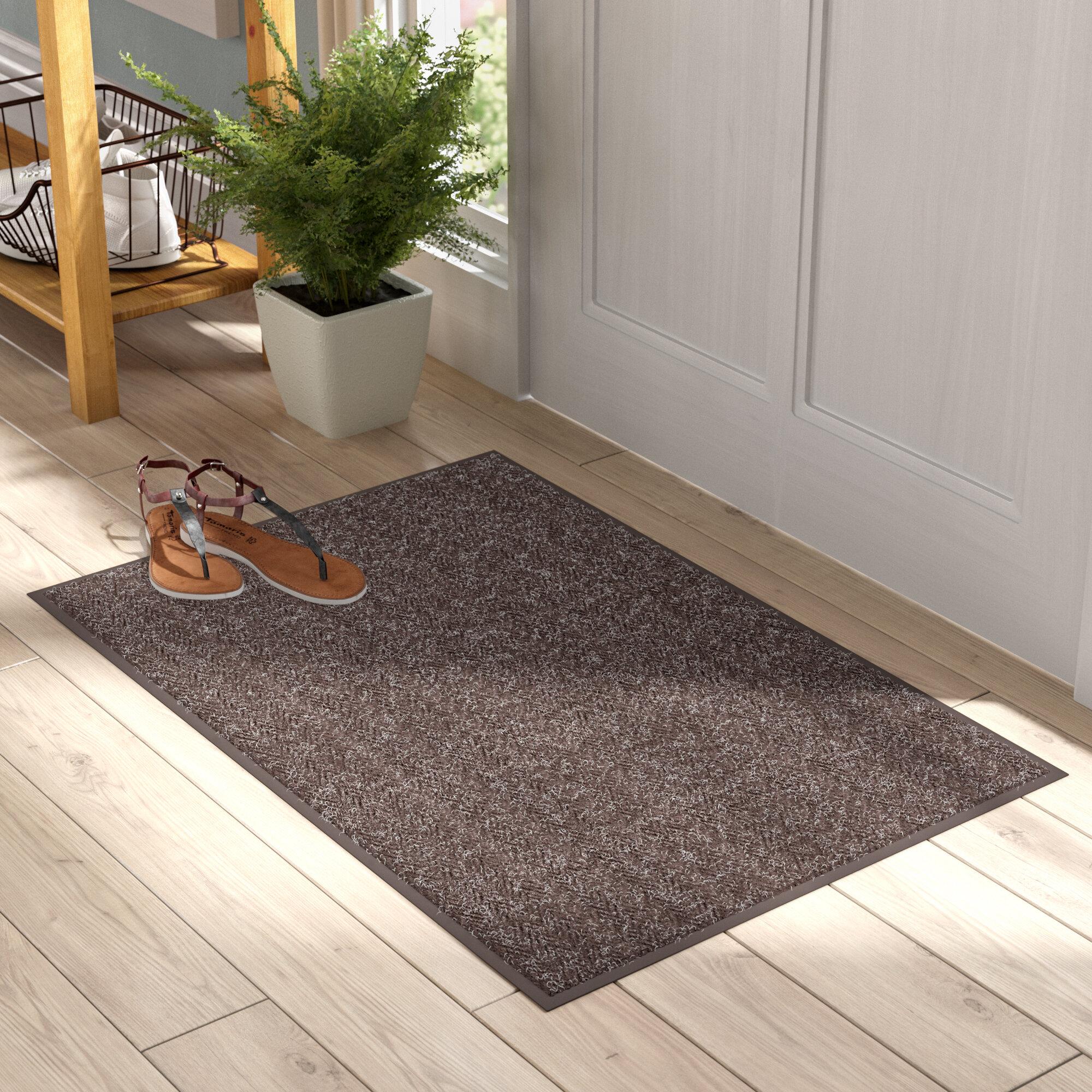 Symple Stuff Pamrapo Chevron Non Slip Indoor Only Door Mat