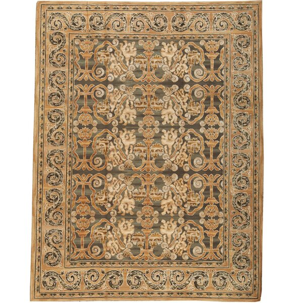 Hand Knotted Wool Brown/Gray/Black Rug