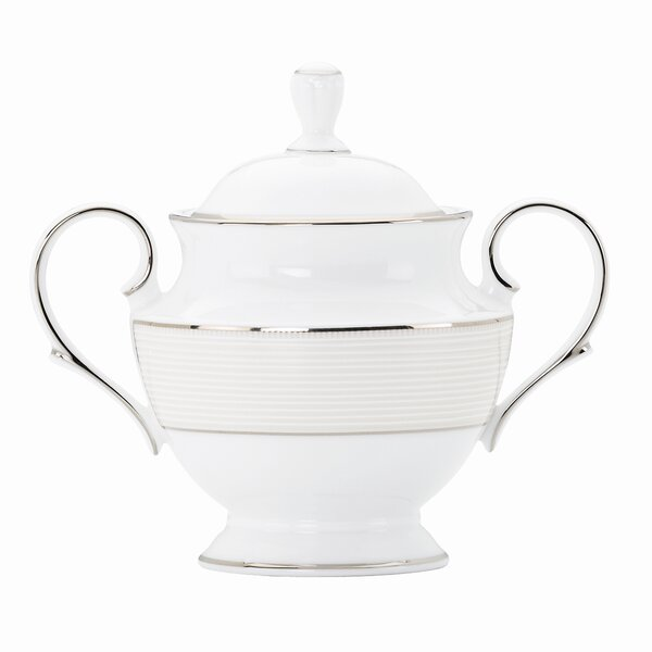 Opal Innocence Stripe Sugar Bowl with Lid by Lenox