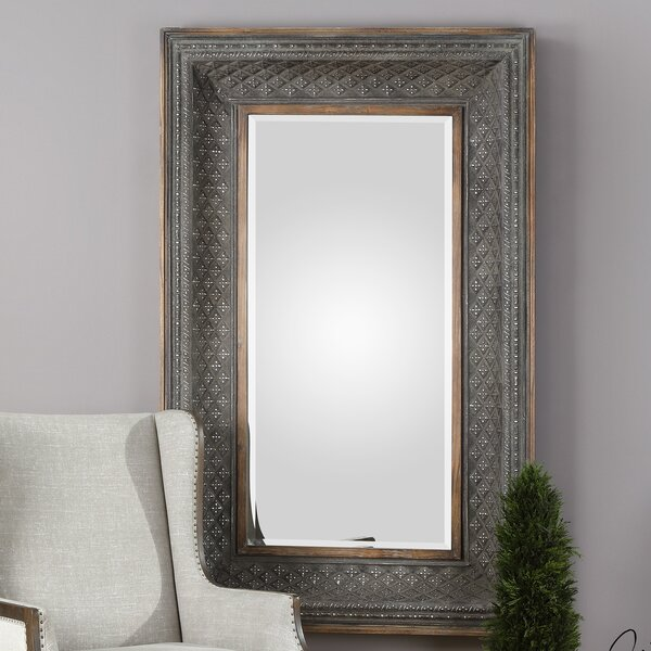 Stefan Kivalina Aged Iron Accent Mirror by House of Hampton
