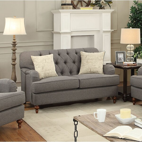 Oakes Standard Loveseat By Canora Grey