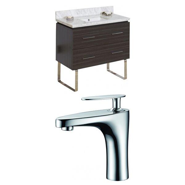 Kyra 36 Single Bathroom Vanity Set with Stone Top by Orren Ellis