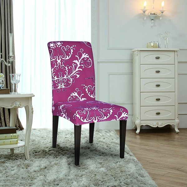Printed Spandex Stretch Box Cushion Dining Chair Slipcover (Set Of 4) By House Of Hampton Purchase