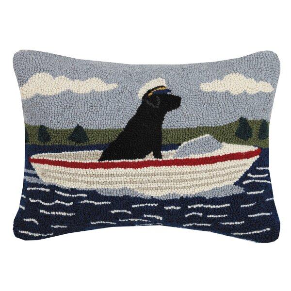 Lilian Boating Lab Hook Wool Lumbar Pillow by Breakwater Bay