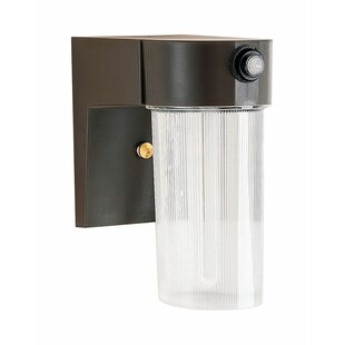 Read Reviews Meaghan Metal Dusk to Dawn Outdoor Wall Lantern By Breakwater Bay