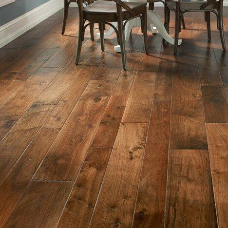 Hudson Bay Random Width Engineered Walnut Hardwood Flooring in Alberta by Albero Valley