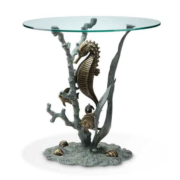 Urbano Seahorse End Table by Rosecliff Heights Rosecliff Heights