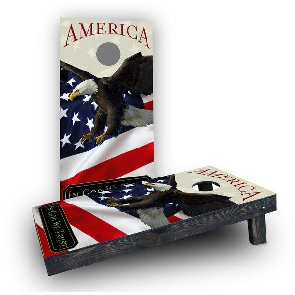 American Cornhole (Set of 2) by Custom Cornhole Boards