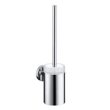 E & S Accessories Wall Mounted Toilet Brush and Holder by HansgroheE & S Accessories Wall Mounted Toilet Brush and Holder by Hansgrohe